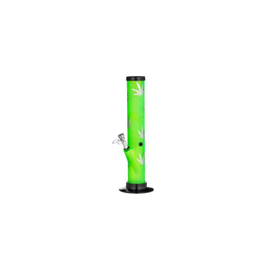 Bong Dreamliner Silicon Hemp Leaf (green/silver)