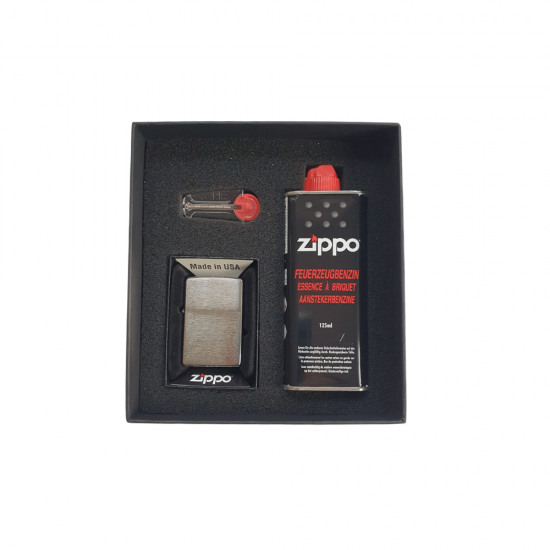 Bricheta Zippo Chrome Set